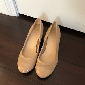 Cole Haan Nude leather wedges size 7